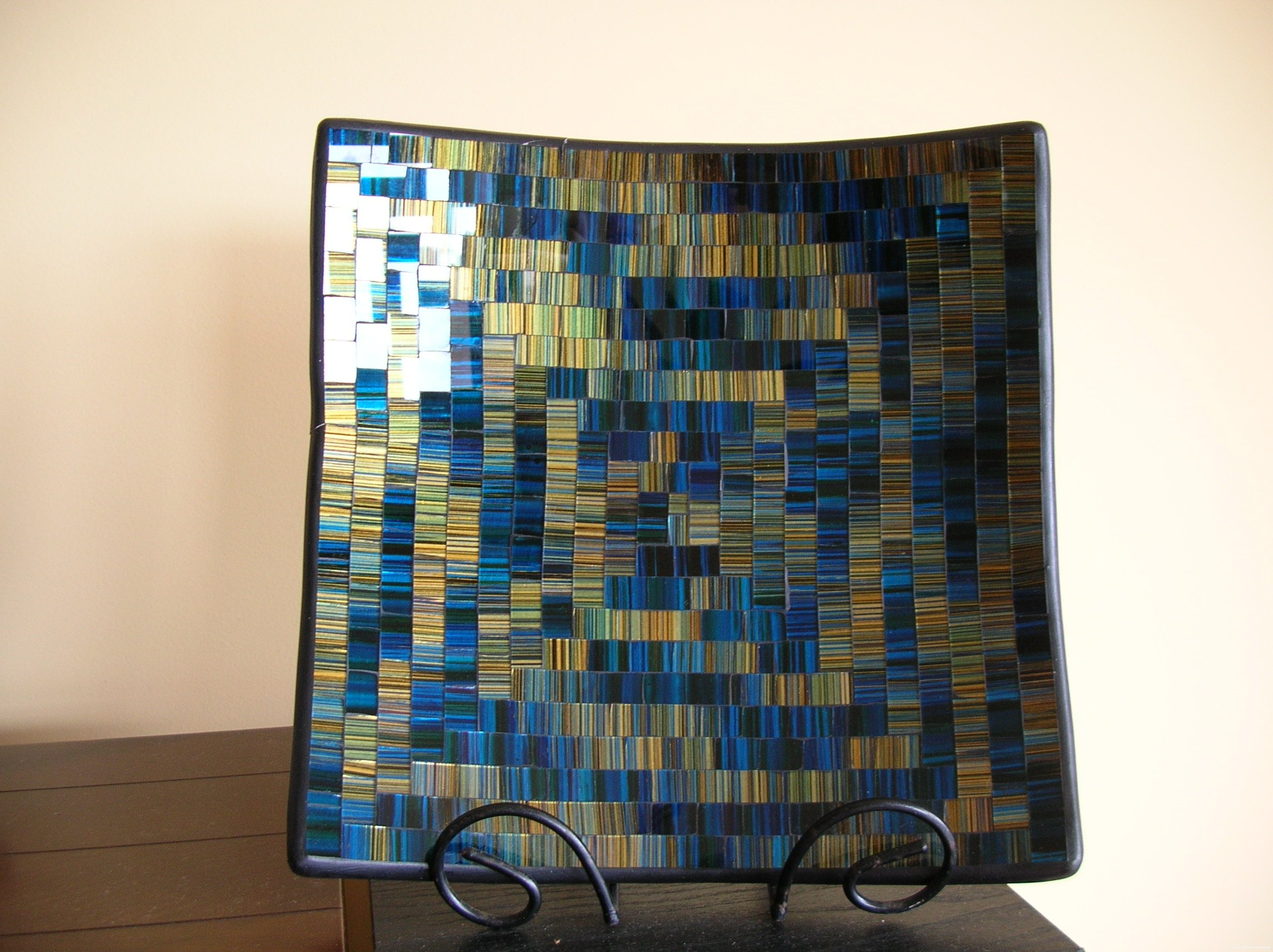 Glass Mosaic Plate
