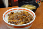 Gyudon meal in Japan