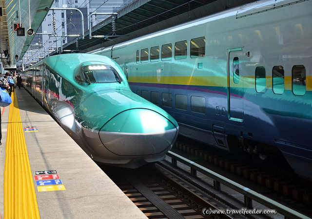 Hayabusa train of Tohoku Shinkansen