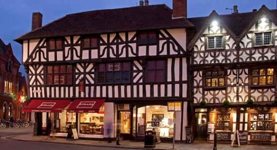 The high street in Stratford Upon-Avon
