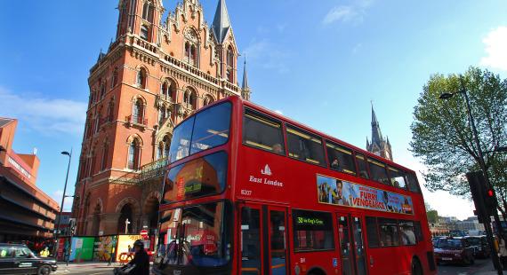 St Pancras n red Bus