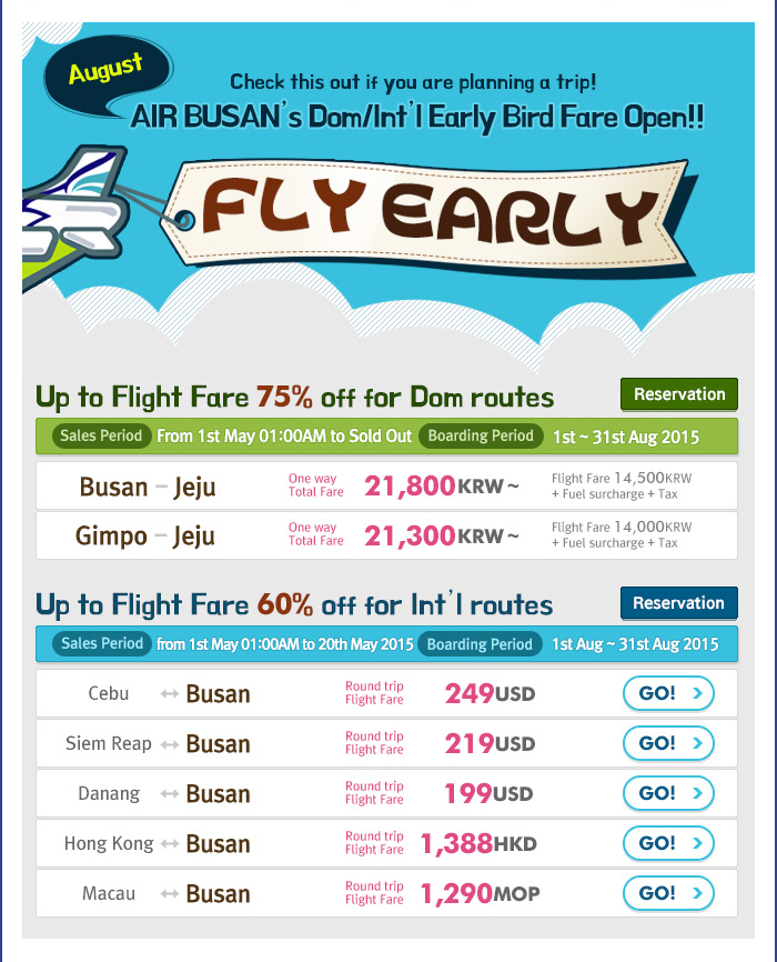 Air Busan low fares