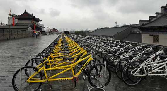 Bicycles and Xian City Wall